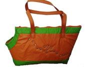 Cool Leather Dog Carrier - Dog Collar Bag