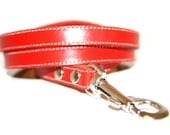 Cool Mod Red Leather Dog Leash