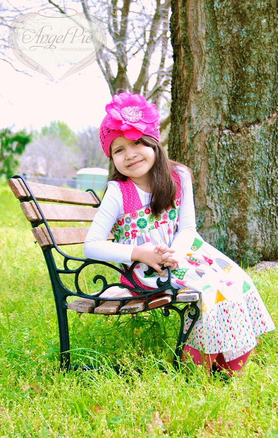 Little Girls Dress in Rain Print