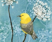 Spring Warbler - 8x10 archival watercolor print by Tracy Lizotte