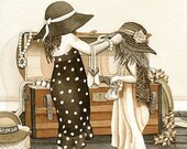 Dress Up - 8x10 archival watercolor print by Tracy Lizotte