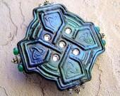 Celtic Cross Polymer Clay Pin