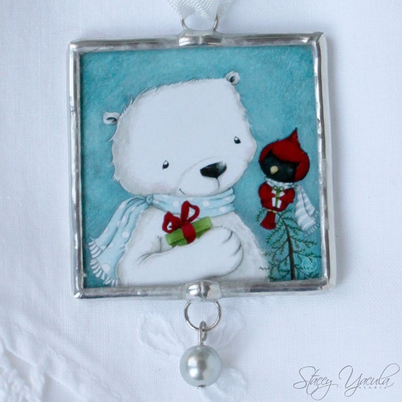 Limited Edition Luxury Christmas Ornaments: Christmas Ornament Limited Edition Polar Bear Cardinal