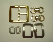 Belt buckles metal shoe buckles old and chain pieces from the 60's