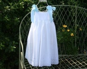 Handmade Flower Girl dress with  Satin Bows. Fully lined dress......Available in sizes  1 . 2.  3. 4 ..5...6..7..8..10