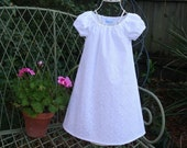 Handmade Baptism..Flower Girl..Beautiful .White Embroidered Lined Dress      Sizes..1T...2T...3T...4T