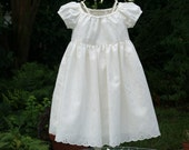 Handmade Flower Girl lined ivory dress.....Great for any occasion....Available in sizes  1..2..3..4....5..6..7..8..10....