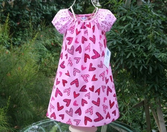 Gift idea girls heart dress---    Available in sizes 1..2..3..4..5 and 6