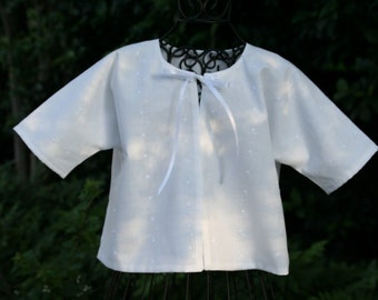 Handmade Baptism Jacket to match fabric of any baptism dress chosen from my shop