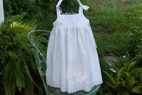 Dress up in Style...Charming...White  or Ivory  Eylet Toddlers Dress....Custom...1T.2T,3T.4T..5..6..7..8..