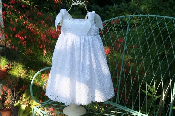 Handmade Flower girl Baptism White girls dress  Girls..Size 2T  ready to ship