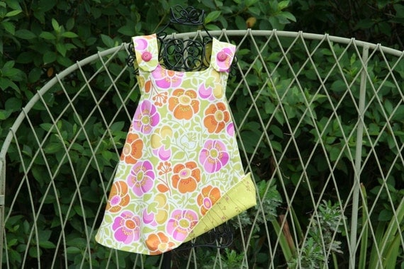 Introducing the new Zoe Collection.....The Reversible Pinafore in fabric designed by Erin McMorris....Available in sizes 1T, 2T,3T and4T....