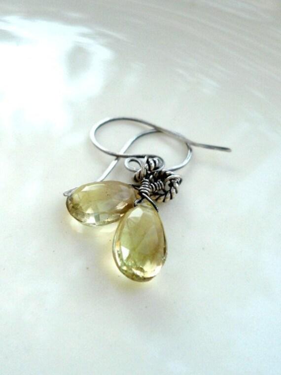 Lemon Quartz Sterling Silver Earrings