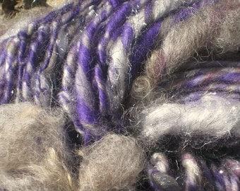 In Memory of Prince / PURPLE RAIN by Fiber Artist GERRY Bulky art yarn
