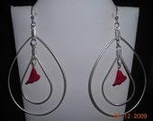 Double Teardrop Hoop Earrings