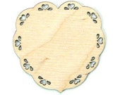 Wood Cut Out - Heart With Eyelet Edge - 2 1\/4 Inches - 2 Pieces - RR3119