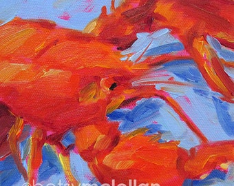 Lobster - Lobster Art - Paper - Canvas - Wood Block