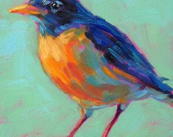 Robin - Bird Art - Paper - Canvas - Wood Block - Giclee Print