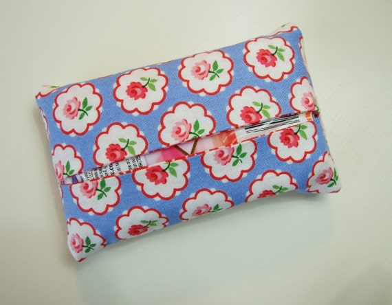 Pam Kitty Morning fabric lined tissue holder.