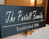 Hand Painted Family Name Sign / Personalized Wood Plaque - Perfect Gift Idea - ETS-19
