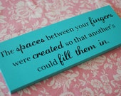 Love Quote Sign Custom Painted Wood Sign with quote - Perfect Gift Idea or Decor at your wedding