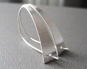 Modernista Sterling Silver Earrings, Sleek Earrings, Contemporary Design, Modern Earrings, Sleek Silver
