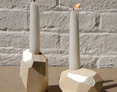 Karla and Casey Gift - 1 Dorit Candle Holder in White Gold, Short Size
