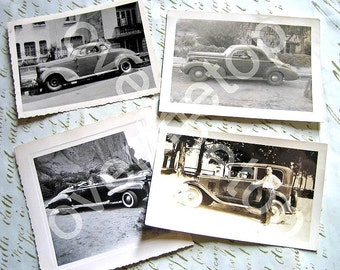 Vintage Original Photographs Antique Cars American Paper Ephemera