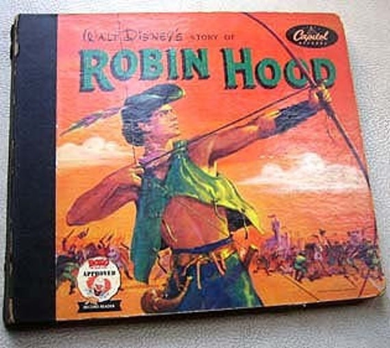1952 Robin Hood Vintage Story Book Record Reader