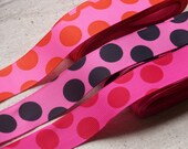 3 Lots of Grosgrain Polka Dot Ribbon - 10 metres