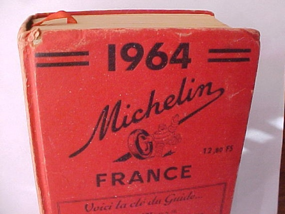 SALE ---- 1964 Michelin guide to FRANCE - tour book - full of MAPS - in french - travel