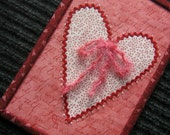 Fabric Art Valentine Gift Card - with Fabric Envelope