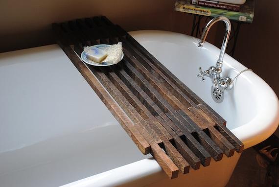 Bathtub Caddy Shelf By Peppysis On Etsy