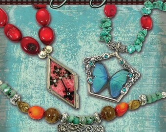 Our Glass Jewels Book - Glass Altered Art and Resin Designer Pendants