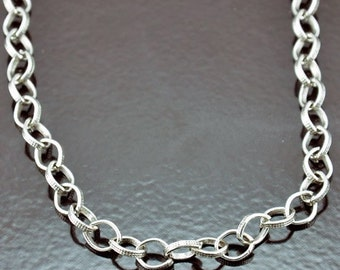 """3 Necklaces with lobster clasps,  Silver Rolo Chain, C669AS/30"""""""