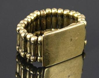 6 Ring Stretch Platform Bases, Vintage Gold, J725G