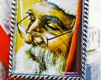 Old St. Nicholas Pendant w/ Silk Cord