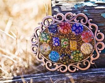 Millifiori Mosaic Belt and Buckle