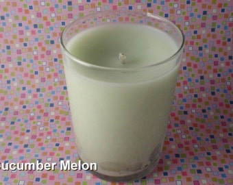 Highly Scented Cucumber Melon Candle