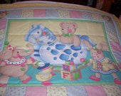 Handmade Mary Engelbreit Toys,Animal Baby/Toddler Quilt-NEWLY MADE 2016
