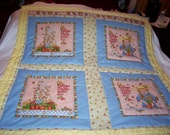 Handmade Baby Mary Engelbreit Cotton Flowers Toddler/Lap  Quilt-NEWLY MADE 2015
