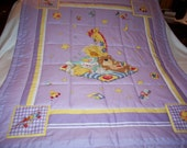 Handmade Baby Little Suzy's Zoo Characters Cotton Baby/Toddler Quilt-NEWLY MADE 2016