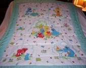 Handmade Baby Sesame Street Characters Cotton Baby/Toddler Quilt-NEWLY MADE 2015