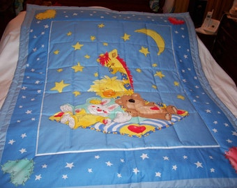 Handmade Little Suzy's Zoo Cotton Baby/Toddler Quilt-NEWLY MADE 2017