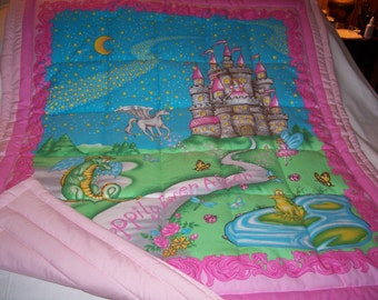Baby Happily Ever After Girl Baby/Toddler(out of print) Cotton Quilt-NEWLY MADE 2016