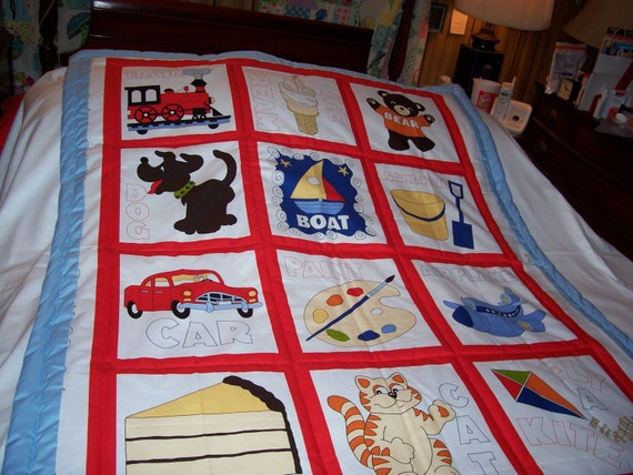 Handmade Baby Travel,Animals,Toys Cotton Baby/Toddler Bed Quilt-NEW