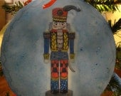 Unique, an original work of Art for your Christmas Tree, Ornaments, Nutcracker, stocking. Beeswax, resin, Encaustic