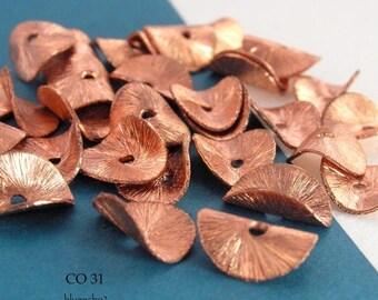 10mm Potato Chip Beads Copper, Potato Chip, Wavy Disk Bead  (CO 31) 12 pcs BlueEchoBeads