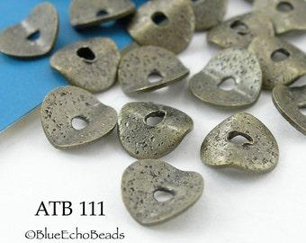 7mm Antique Bronze Potato Chip Beads, Small Wavy Disks (ATB 111) 18 pcs BlueEchoBeads