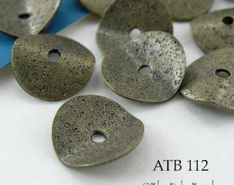 10mm Antique Bronze Potato Chip Beads, Wavy Disks (ATB 112) 10 pcs BlueEchoBeads